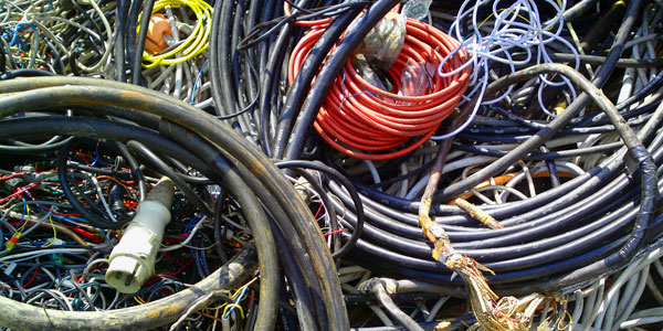 Kupferkabel Kabelschrott: Blei-, Kupfer- oder sonstigen Kabel.