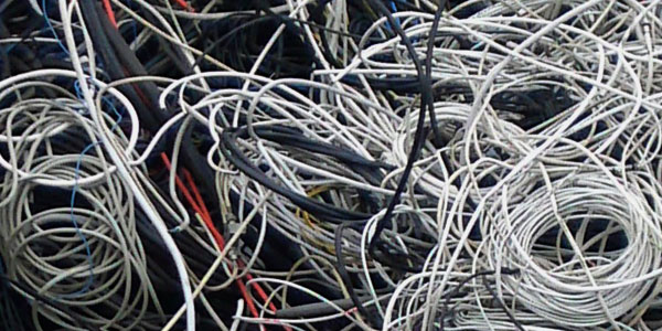 Kabelschrott, Blei-, Kupfer- oder sonstigen Kabel.